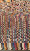 Abstract Moroccan Oriental Area Rug Hand-knotted Wool 10x16 Large Modern Carpet