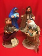 Annalee Christmas Nativity Set Of 4 Mary Joseph Wiseman And Peasant W/tags