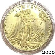 United States Of America Eagle Gold Bullion 2000 Liberty 25 Brass Metal Coin