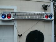 Vintage 1958 Ford Grill Lighted 2 Red Glass Lences And 2 Blue Lookes Great