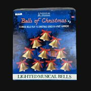 Vintage Mr. Christmas Bells Of Christmas New Open Box 10 Lighted Musical Bells