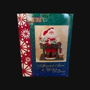 Santa 's Workshop Holiday Creations 20 Animated Lighted Music With Candlelight