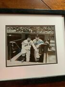 1936 Jimmie Foxx/ Bob Feller 17 Years Old Autographed Type 1 Photo Beautiful