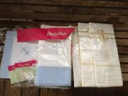 Vintage Unused Embroidered Sheet And Pillowcases Lot In Package European