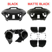 Inner Outer Fairing Speakers Covers Grille Fit For Harley Road Glide 15-21 17 18