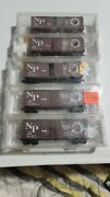 Micro-trains N Scale Northern Pacific Np 40' Wood Box Car 22040. Used Qty 5