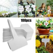 100 Pc Plant Tags Flower Marker Labels Nursery T-type Gardening Planter Tool Set