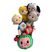Cocomelon Jj Doll 8andrdquo Baby Plush Watermelon Ladybug Duckie Kitty And Jj Puppy