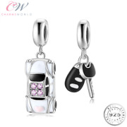 Car And Car Key Charms Genuine 925 Sterling Silver 💞 Passed Driving Test New Car
