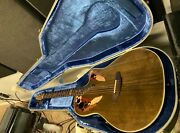 1984 Ovation Collectorand039s Series Acoustic Electric Guitar W/case 1984-5 Nutmeg