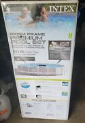 Intex Prism Frame 18ft X 48in Pool Set With Vacuum, Skimmer And More See Pictures