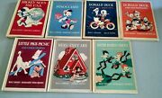 Lot 7 Vintage Disney 1939 1940 Mickey Mouse 1st Edition Donald Duck Pinocchio+