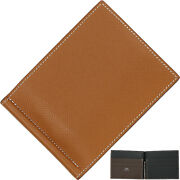 Hermes Poker Gm Epson Bi-fold Wallet Men's Brown Leather Used Mint Condition