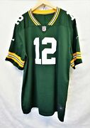 Aaron Rodgers 12 Authentic Nike Nfl Green Bay Packers Jersey Size 60 4xll2