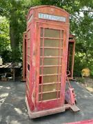 Antique English Phone Booth Cast Iron