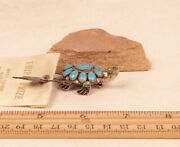 Lee And Mary Weebothee Zuni Turtle Tortoise Pin By 1 3/4 X 1 C1970 Ribbon