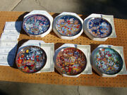 Franklin Mint 6 Pepsi Cola Collector Plates Never Displayed Christmas Mint Cond