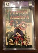 Captain America 100 Cgc 9.2 Owtw Pages Stan Lee