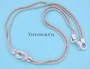 And Co. Double Rope Love Knot Necklace Sterling Silver 925 E522
