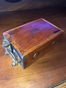 Vintage Model A/t Ford Old Buzz Box Antique Dovetail Wood Ignition Coil