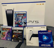 Sony Ps5 Blu-ray Edition Console - White Bundle