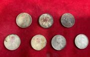 7 Coins 🪙 Of British Queen Victoria Silver One Rupee 1862 1882 1884 And 1888