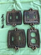 4 Vintage Bonaventure Electrical Outlet Light Switch Plate Brass Metal Covers