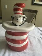 """Rare Vintage Tm And Enterprises """"the Cat In The Hat"""" Cookie Jar Preowned"""