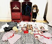 Vintage American Girl Samantha Doll Rare Clothing Accessories Steamer Trunk Lot