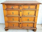 Antique Early 1900and039s Baker Furniture 4 Drawer Gentlemanand039s Chest Dresser