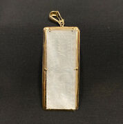 Antique 14k Yellow Gold And Mother Of Pearl Chinese Gambling Counter Token