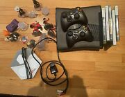 Xbox 360 Bundle Lot Disney Infinity Controllers Cable Games Cod Star Wars Nfl