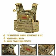 Tactical Plate Carrier Vest Molle Gear Holder Adjustable Cs Military Paintball