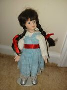 Seymour Mann Wizard Of Oz Dorothy Storybook Tiny Tots Porcelain Doll Stand