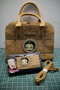 Betty Boop Purse And Wallet Camel Color