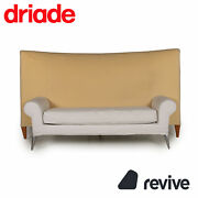 Driade Royalton Fabric Sofa Beige Two Seater Couch By Philippe Starck