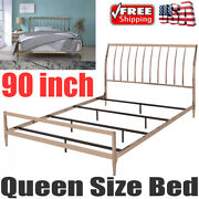 Queen Size Bed Vintage Antique Iron Metal Headboard Footboard Frame Copper New