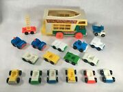 Vintage Fisher Price Little People Vehicle Lot - Cars Trucks Camper Police Fire