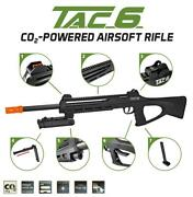 Asg Tac-6 Sl Sniper Airsoft Rifle Co2 Laser Free King Arms Platinum Bb Ammo Lot