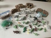 1950and039s-60and039s Vintage Marx Prehistoric Times Playset With Multiple Dinasaurs