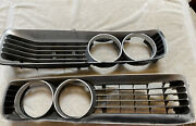 Mopar 72 1972 Charger Front Grill Pair Without Concealed Headlamp W/ Shields