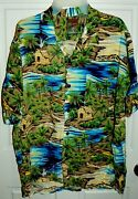 🌴 Vintage Pineapple Connection Hawaiian 100 Rayon Shirt Large Best Brands
