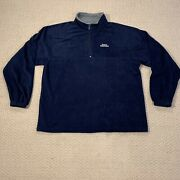 Sports Illustrated Mens Fleece Pullover 1/4 Zip Size Xl Color Navy Blue Ex Cond