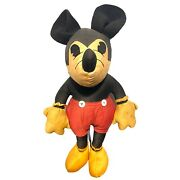 Antique 1930andrsquos Charlotte Clark Mickey Mouse Doll/ Plush Toy - Vintage Disney