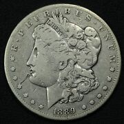1889 Carson City Morgan Silver Dollar - Scratched And Cleaned