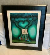 8/47 Out Of The Blue Hope Limited Edition S/n Fabio Napoleoni Art Print Framed