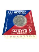 Atlanta 1996 Volleyball Olympic Sport Coin Medallion Original Package Vintage