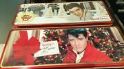 Lot Of 2 Elvis Presley Russell Stover Hinged Decorative Commemorative Candy Tins