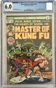 Special Marvel Edition Master Of Kung Fu 15 - Cgc Fn 6.0 1st Shang Chi Key