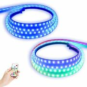 Opl5 2pcs 70inch Dream Color Truck Led Running Board Lights Sequential With W...
